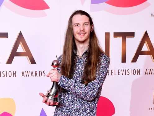 James Moore won the best newcomer gong at the National Television awards (Ian West/PA)