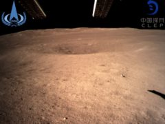 The first image of the moon's far side taken by China's Chang'e 4 probe (China National Space Administration/Xinhua News Agency via AP)