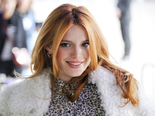 Bella Thorne arriving at an event during London Fashion Week (Edward Smith/PA)