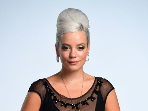 Lily Allen swore on the Brits live feed (Ian West/PA)