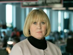 Sarah Lancashire says it was hard 'trying not to fancy' co-star Richard Gere (Laurence Cendrowicz/BBC)