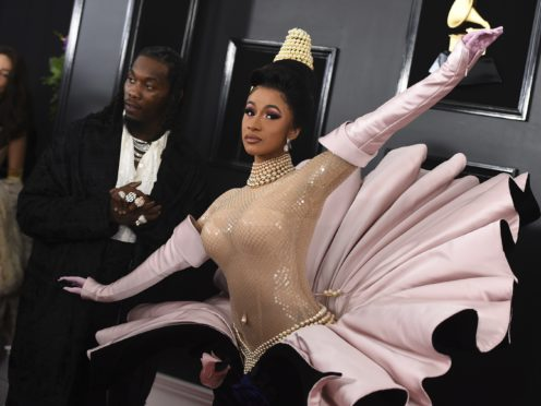 Cardi B arrives at the Grammys (Jordan Strauss/Invision/AP)