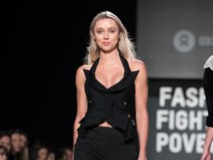 Una Healy on the catwalk during the Oxfam Fashion Fighting Poverty show (PA)
