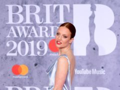 Jess Glynne attending the Brit Awards 2019 at the O2 Arena, London. (Ian West/PA)