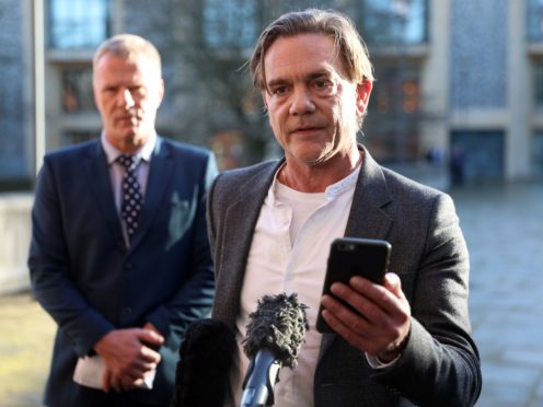 John Michie speaking outside Winchester Crown Court after Ceon Broughton was found guilty of the manslaughter of his daughter (Andrew Matthews/PA)
