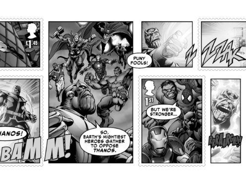 Marvel comics mini-sheet (Royal Mail)