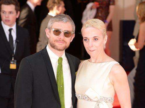 Martin Freeman and Amanda Abbington (Dominic Lipinski/PA)
