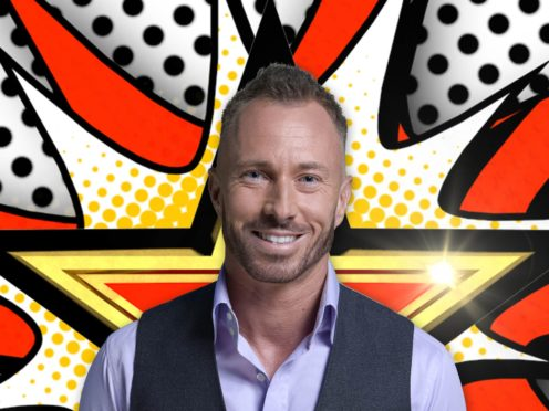 James Jordan hurt his shoulder training for Dancing On Ice (Channel 5/PA)