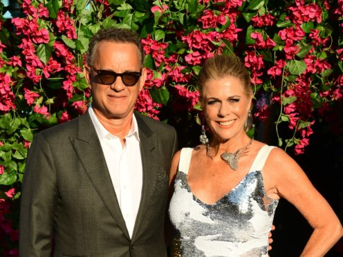 Rita Wilson paid tribute to 'love of my life' Tom Hanks as she was honoured with a star on the Hollywood Walk Of Fame (Ian West/PA)