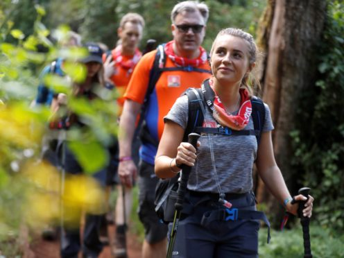 Dani Dyer during the climb (Chris Jackson/Getty/Comic Relief)