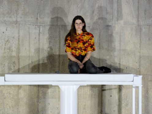 A performer in Anne Imhof: Sex (Kirsty O'Connor/PA)