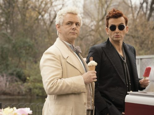 Michael Sheen and David Tennant amuse as angel and demon in Good Omens trailer (Amazon Prime Video/PA)
