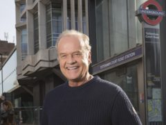 Kelsey Grammer delivered special tannoy announcements to commuters at Tottenham Court Road Station (Universal TV)