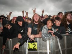 Festival goers at Download (Katja Ogrin/PA)