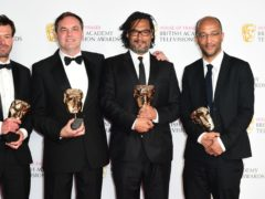 David Olusoga (second from right) at the BAFTA TV Awards 2016 (Ian West/PA Wire)