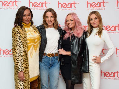 Spice Girls (left to right) Melanie Brown, Melanie Chisholm, Emma Bunton and Geri Horner (PA)
