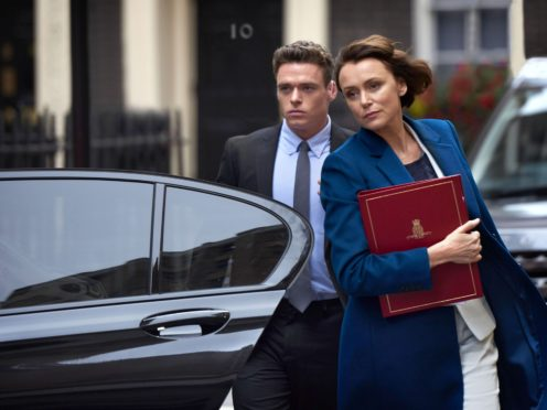 Richard Madden as David Budd and Keeley Hawes as Julia Montague in the BBC1 drama, Bodyguard (Des Willie/BBC/PA)