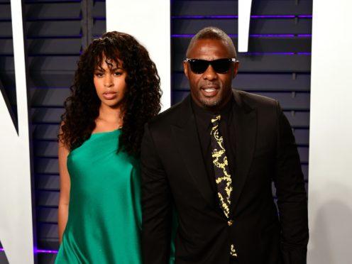 Sabrina Dhowre and Idris Elba (Ian West/PA)