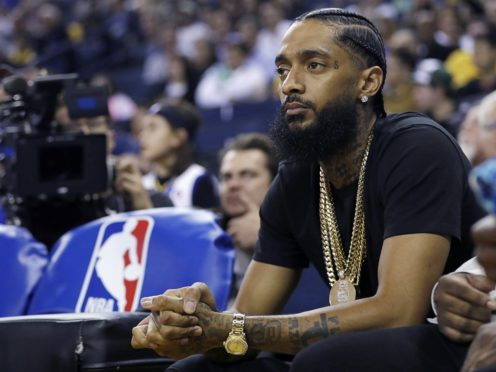 Grammy-nominated rapper Nipsey Hussle was shot outside his clothing shop in south Los Angeles (AP Photo/Marcio Jose Sanchez, File)