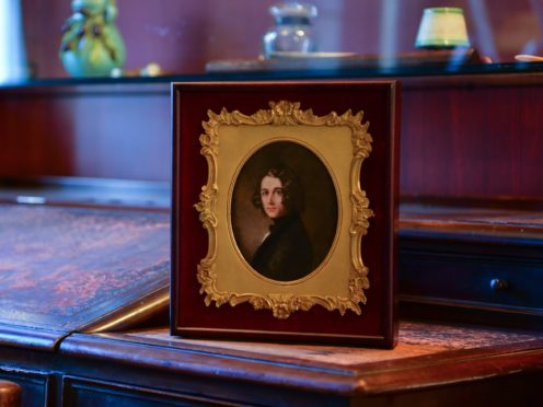 A rediscovered portrait of Charles Dickens by Margaret Gillies has gone on display at the Charles Dickens Museum in London (Rebecca Brown/PA)
