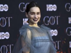 Emilia Clarke, Sophie Turner and Maisie Williams turned heads on the red carpet for the final Game Of Thrones season premiere (Evan Agostini/Invision/AP)