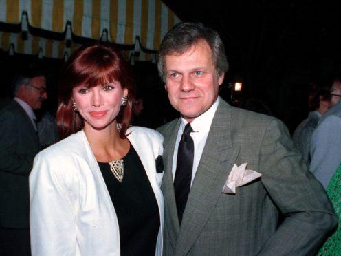 Ken Kercheval with his Dallas co-star Victoria Principal (AP Photo/Craig Mathew, File)