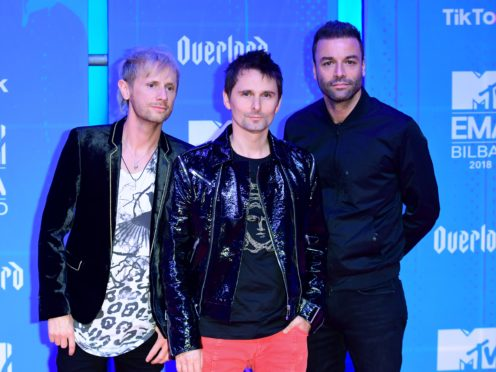 Muse frontman Matt Bellamy referenced his band's 2006 hit (Ian West/PA)