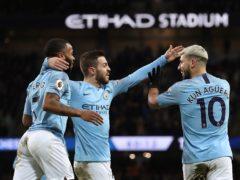Manchester City's Raheem Sterling, Bernardo Silva and Sergio Aguero are all shortlisted (Martin Rickett/PA)