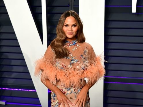 Chrissy Teigen's daughter Luna unknowingly recreated her mother's crying facial expression that was later turned into a popular meme (Ian West/PA)