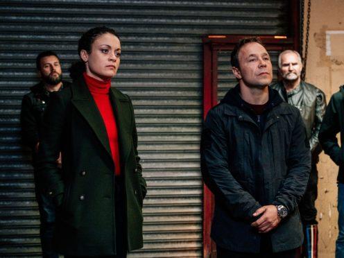 Rochenda Sandall and Stephen Graham as Lisa McQueen and John Corbett in Line of Duty (Aiden Monaghan/World Productions/BBC)