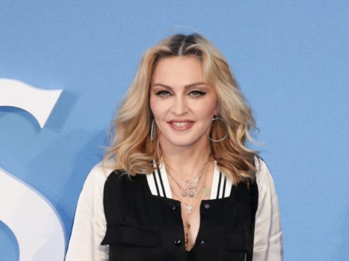 A section of Madonna's controversial Eurovision performance in which her backing dancers wore Iraeli and Palestinian flags on the backs of their outfits was not an approved part of the act (Yui Mok/PA)
