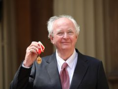 Philip Pullman with his knighthood (Yui Mok/PA)