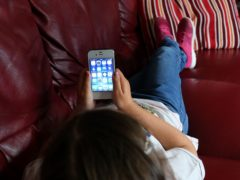 Children as young as two are using social media, research suggests (Peter Byrne/PA)