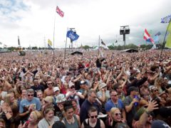 The crowd watching a performance on Glastonbury's Pyramid Stage (Yui Mok/PA)