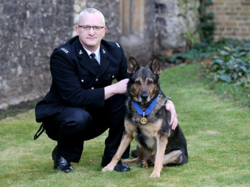 Finn and Pc Dave Wardell performed on BGT (Jonathan Brady/PA)