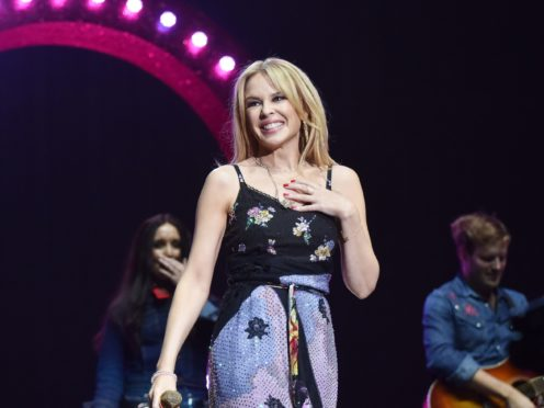 Kylie Minogue performing on the Pyramid Stage (Yui Mok/PA)