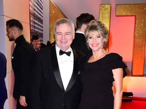Eamonn Holmes was emotional on This Morning without his grieving wife, Ruth Langsford (Ian West/PA)