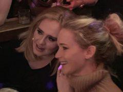 Adele and Jennifer Lawrence (Ben Lebowitz/PA)