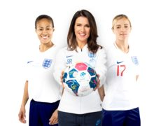 Rachel Yankey, Susanna Reid and Katie Chapman (Unicef/PA