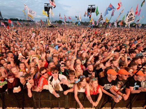 Glastonbury festivalgoers (Ben Birchall/PA)