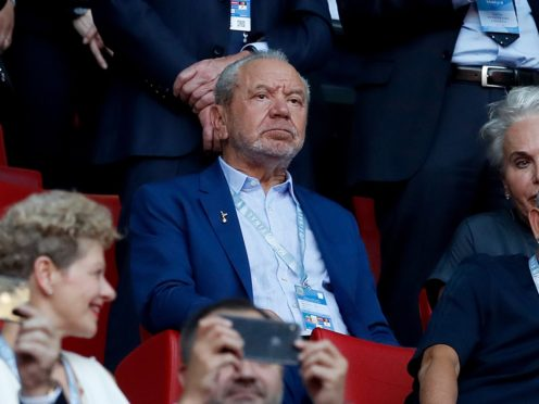 Lord Alan Sugar appeared on Piers Morgan's life stories (Martin Rickett/PA)