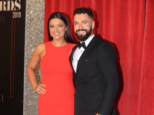 Shayne Ward and Sophie Austin at the British Soap Awards (Lindsey Parnaby/PA)
