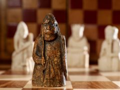 A newly discovered medieval chess piece missing for almost 200 years (Tristan Fewings/Sotheby's/PA)