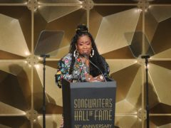 Missy Elliott broke down in tears as she was inducted (Photo by Brad Barket/Invision/AP)