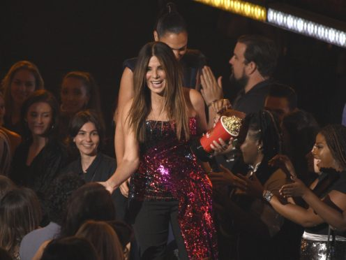 Sandra Bullock won an MTV award for her role in Netflix horror film Bird Box (Chris Pizzello/Invision/AP)