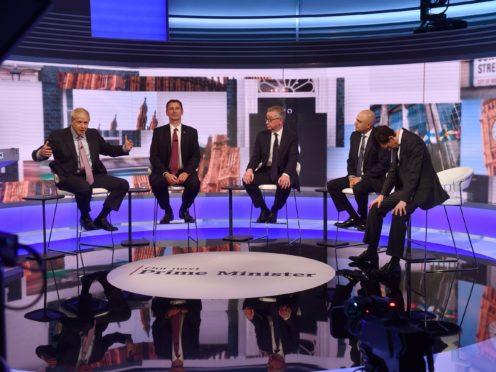 The BBC's Tory leadership debate pulled in more than five million viewers (Jeff Overs/BBC)