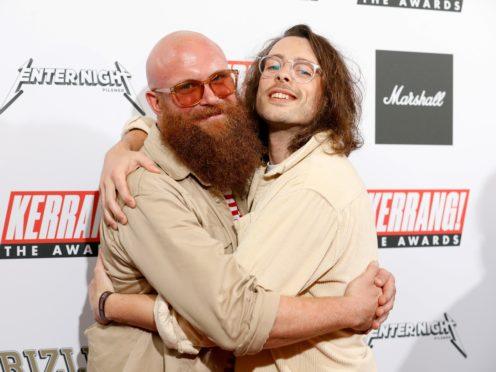 Idles' Adam Devonshire (left) and Lee Kiernan (David Parry/PA)