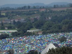 Tents on the first day of Glastonbury Festival at Worthy Farm, Somerset (Yui Mok/PA)