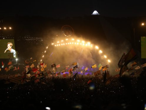The Killers brought the curtain down on Saturday at Glastonbury (Aaron Chown/PA)