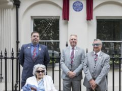 Veterans attending the unveiling of the plaque (English Heritage)